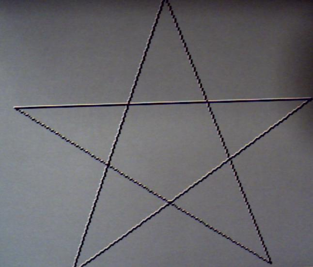 how to draw stars with no lines inside