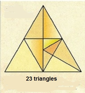 Find Twenty Three Triangles - Brain Teaser