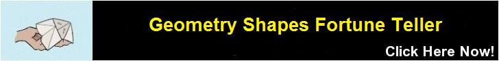 Geometry Shapes Fortune Teller